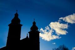 Silhueta da igreja Fotos de Stock Royalty Free