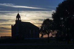 Silhueta da igreja Foto de Stock Royalty Free