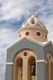 Silhueta da igreja em Santorini Greece Imagens de Stock