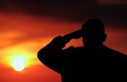 Silhueta da luz do sol Imagens de Stock Royalty Free