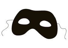 Silhueta da máscara Imagem de Stock