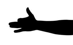 Silhueta da mão Fotografia de Stock Royalty Free