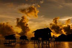 A silhueta da manhã Imagens de Stock
