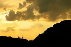 Silhueta da montanha Imagem de Stock