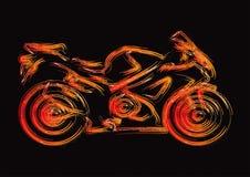 A silhueta da motocicleta ajustou 1 Ilustração Stock
