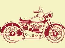 Silhueta da motocicleta velha - opinião do perfil Imagens de Stock Royalty Free