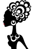 Silhueta da mulher ilustração stock