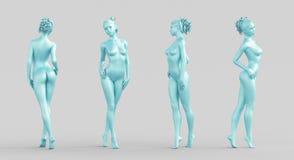 Silhueta da mulher, corpo ilustração royalty free