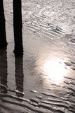 Silhueta da praia Foto de Stock Royalty Free