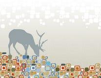 Silhueta da região selvagem dos cervos Fotografia de Stock Royalty Free