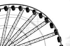 Silhueta da roda de Ferris Fotos de Stock