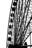 Silhueta da roda de Ferris Imagem de Stock