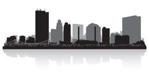 Silhueta da skyline da cidade de Toledo Ohio ilustração do vetor