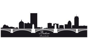 Silhueta da skyline da cidade de Boston ilustração do vetor