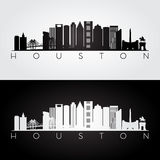 Silhueta da skyline de Houston Foto de Stock Royalty Free