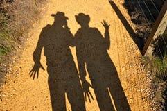Silhueta da sombra Foto de Stock