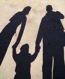 Silhueta da sombra da família Fotografia de Stock