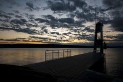 Silhueta da torre do mergulho Imagem de Stock Royalty Free