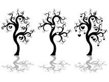 Silhueta das árvores Fotos de Stock Royalty Free