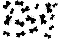 Silhueta das borboletas Foto de Stock Royalty Free