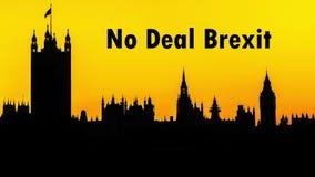 Silhueta das casas do parlamento no palácio de Westminster, Londres, à vista de nenhum negócio Brexit filme