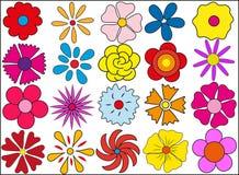Silhueta das flores o 8 de março ilustração do vetor