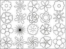 Silhueta das flores o 8 de março ilustração royalty free