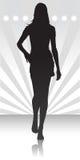 Silhueta das mulheres Imagens de Stock