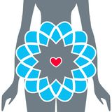 Silhueta das mulheres gravidas Vetor Imagens de Stock