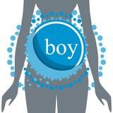 Silhueta das mulheres gravidas Vetor ilustração royalty free