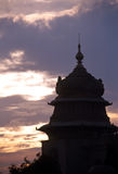 Silhueta de Bangalore fotografia de stock