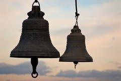 Silhueta de Bell Imagens de Stock Royalty Free