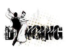 Silhueta de dança clássica dos pares Imagens de Stock Royalty Free