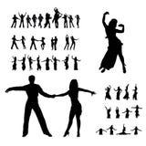 Silhueta de Dansers Fotografia de Stock