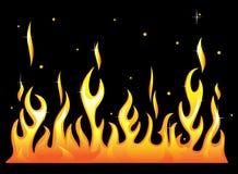Silhueta de flama ardente do incêndio ilustração stock