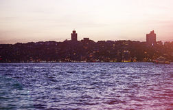 Silhueta de Istambul no por do sol Imagens de Stock Royalty Free