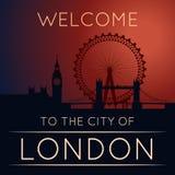A silhueta de Londres Imagens de Stock