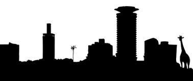 Silhueta de Nairobi Imagens de Stock Royalty Free