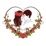 Silhueta de pares loving Fotografia de Stock Royalty Free