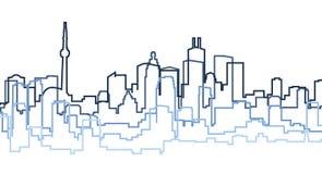 Silhueta de Toronto Fotografia de Stock