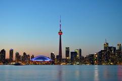 Silhueta de Toronto antes do anoitecer Imagens de Stock