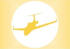 Silhueta de um avião Foto de Stock Royalty Free