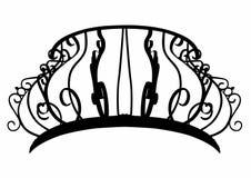 Silhueta de um balcão barroco ilustração stock