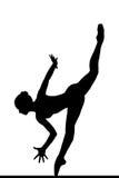 Silhueta de um balerina de levantamento imagem de stock royalty free