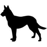 Silhueta de um cão Ilustração do vetor Foto de Stock