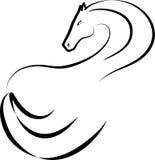 Silhueta de um cavalo Imagens de Stock