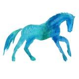 Silhueta de um cavalo Isolado Ilustração da aguarela Fotos de Stock Royalty Free
