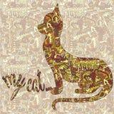 Silhueta de um gato e da inscrição de meu gato Carro do vetor Fotos de Stock Royalty Free