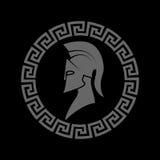Silhueta de um guerreiro espartano ilustração do vetor