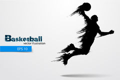 Silhueta de um jogador de basquetebol Ilustração do vetor Foto de Stock Royalty Free